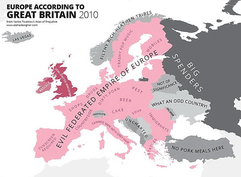 2010年のイギリス人によるヨーロッパ観