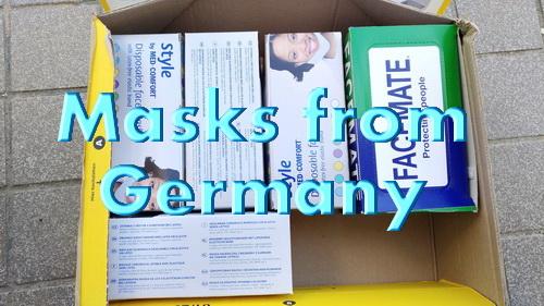 ドイツからマスクが届きました