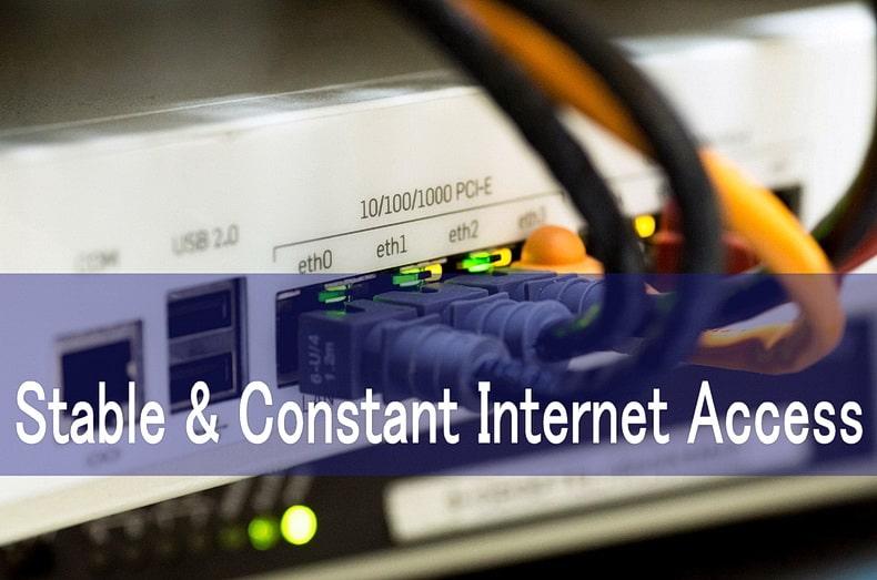 安定した常時接続のネット回線を確保しよう