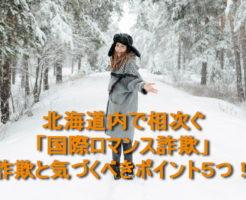 北海道内で相次ぐ「国際ロマンス詐欺」~詐欺と気づくべき5つのポイント [ケーススタディ]